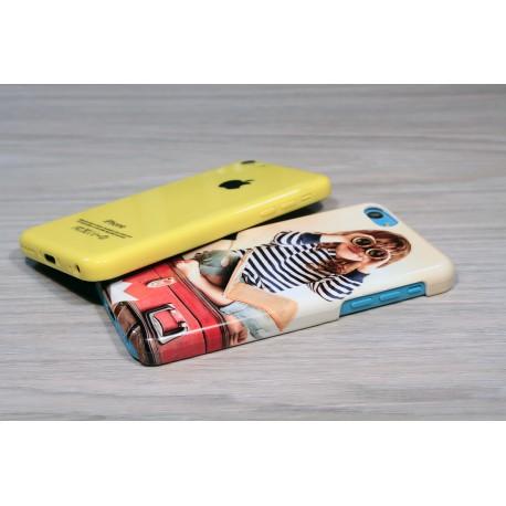Coque rigide iPhone 5C personnalisée avec côtés imprimés