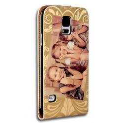 Etui Galaxy S5 personnalisé à clapet en cuir