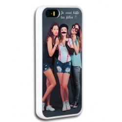 Coque iPhone 5/5s personnalisée avec côtés silicones unis
