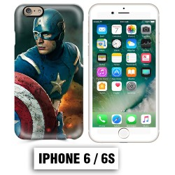 Coque iphone 6 6S Captain Super America Comics