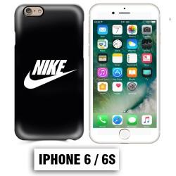 Coque iphone 6 6S logo Nike noir