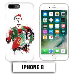 Coque iphone 8 Foot Ronaldo Madrid CR7
