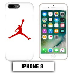 Coque iphone 8 air Jordan basket 23 rouge