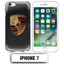 Coque iphone 7 logo Porsche carbonne Carrera