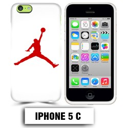 Coque iphone 5C air Jordan basket 23 rouge