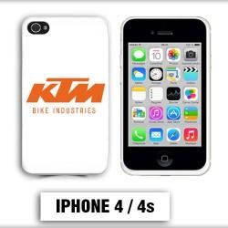 Coque iphone 4 moto KTM orange