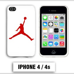 Coque iphone 4 air Jordan basket 23 rouge