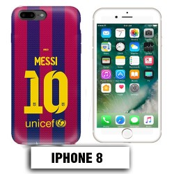 Coque iphone 8 Foot FCB Barcelonne Messi