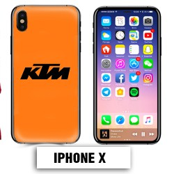 Coque iphone X moto cross KTM