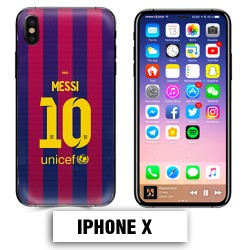 Coque iphone X Foot FCB Barcelone Messi