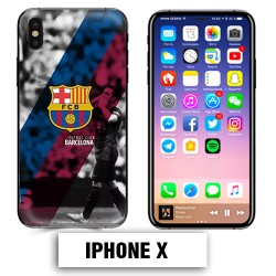 Coque iphone X Foot FCB Barcelonne Messi