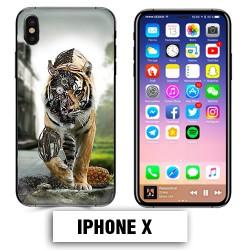 Coque iphone X tigre robot