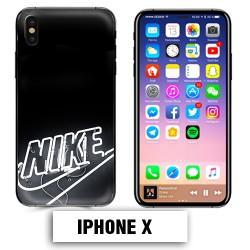Coque iphone X logo Nike neon