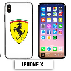 Coque iphone X logo Ferrari Scuderia