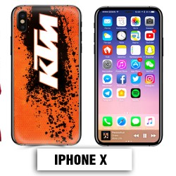 Coque iphone X moto cross KTM sport
