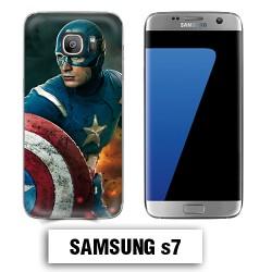 Coque Samsung S7 Captain America Avengers