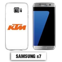 Coque Samsung S7 KTM logo moto