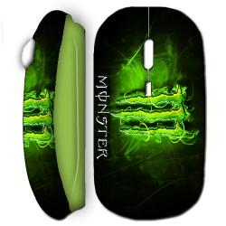 Souris sans fil Monster Energy vert