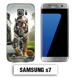 Coque Samsung S7 animal tigre robot