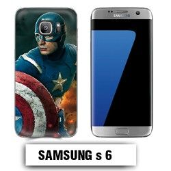 Coque Samsung S6 Captain America Avengers