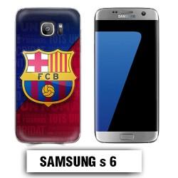 Coque Samsung S6 logo FCB Barcelone Messi