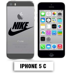Coque transparente Iphone 5C Nike Noir