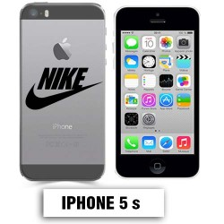 Coque transparente Iphone 5 5S Nike Noir