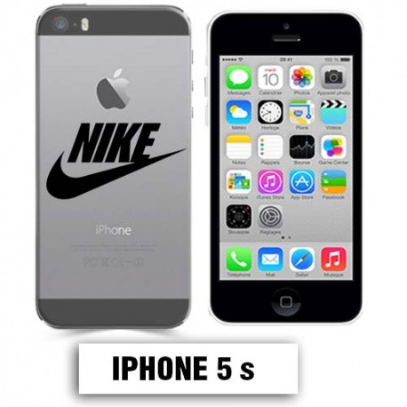 coque transparente iphone 5 5s nike noir lakokine. Black Bedroom Furniture Sets. Home Design Ideas