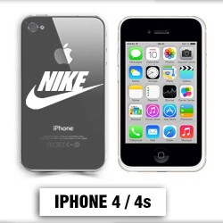 Coque transparente Iphone 4 Nike blanc