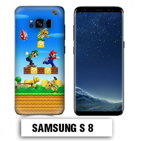 Coque Samsung S8 Mario Bross jeu