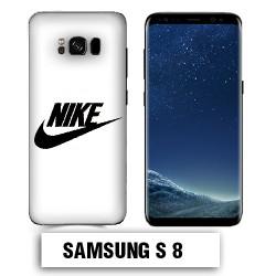 Coque Samsung S8 logo NIKE Blanc