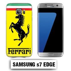 Coque Samsung S7 Edge Logo Ferrari