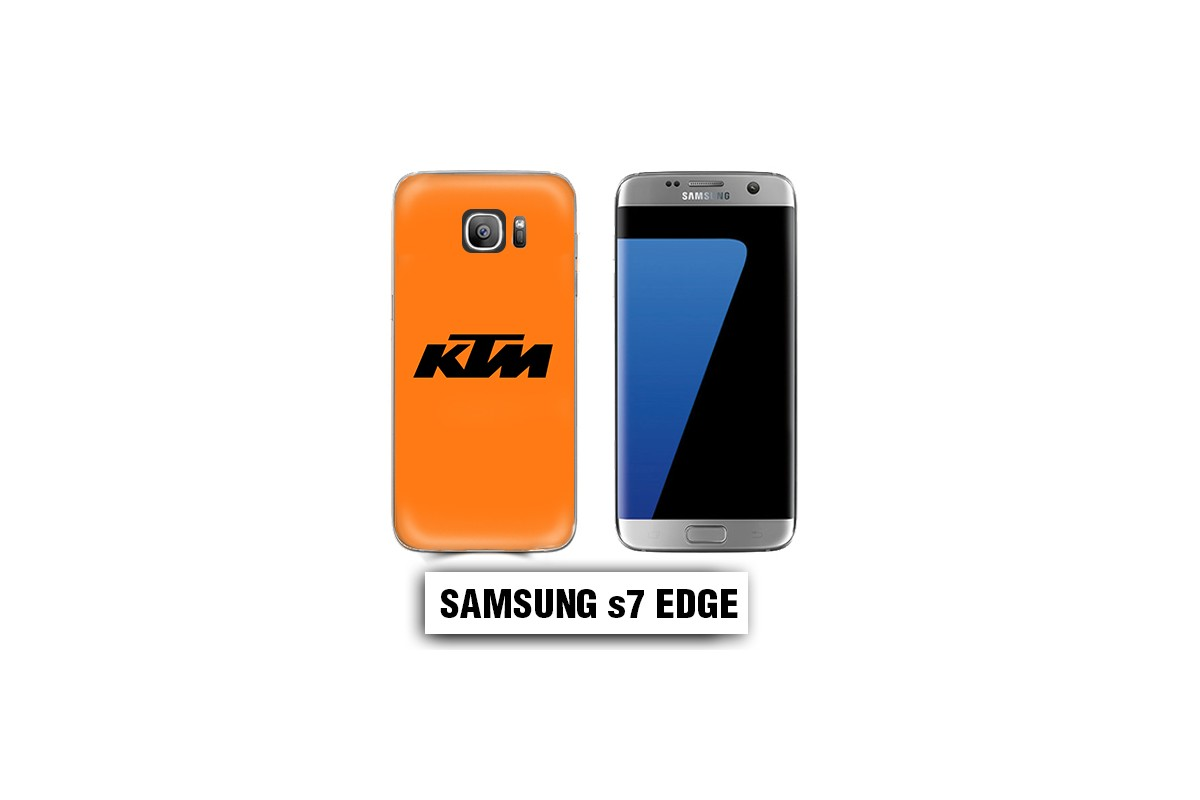 coque samsung s7 edge orange
