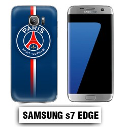 Coque Samsung S7 Edge PSG Bleu Rouge