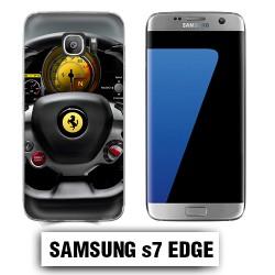Coque Samsung S7 Edge volant Ferrari