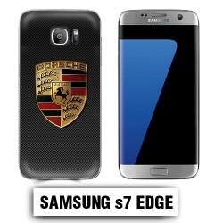 Coque Samsung S7 Edge Porsche carbone