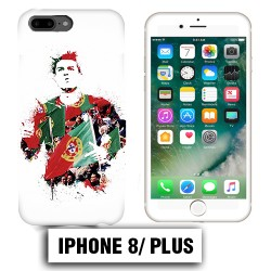 Coque iphone 8 PLUS 7 Ronaldo Madrid CR7