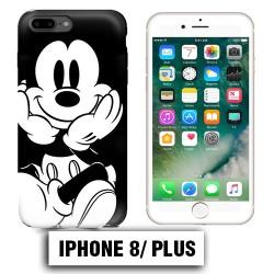 Coque iphone 8 PLUS Mickey Noire