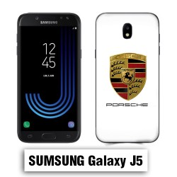 Coque Samsung J5 Porshe Blanc