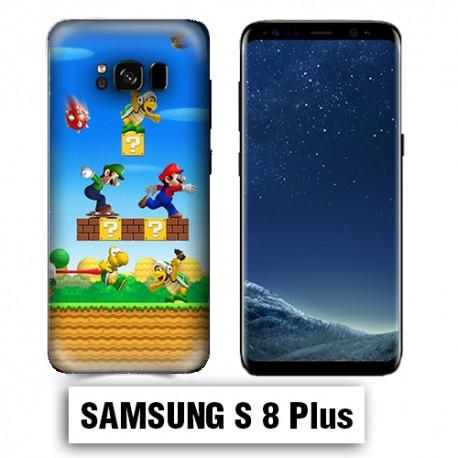 Coque Samsung S8 Plus Mario Bross jeu