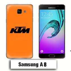 Coque Samsung A8 KTM Orange