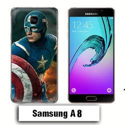 Coque Samsung A8 Captain America Avengers
