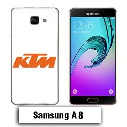 Coque Samsung A8 KTM logo moto