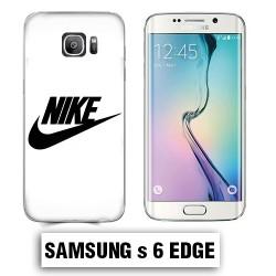 Coque Samsung S6 Edge logo Nike Blanc