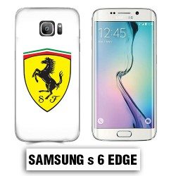 Coque Samsung S6 Edge Logo Ferrari Scuderia