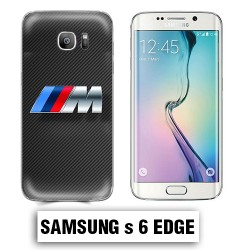 Coque Samsung S6 Edge BMW carbone