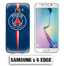 Coque Samsung S6 Edge logo Foot PSG