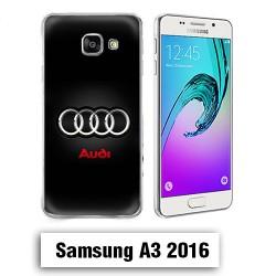Coque Samsung A3 2016 Logo Audi Noire