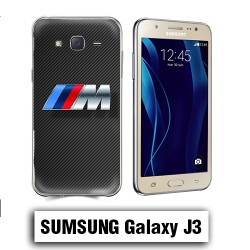 Coque Samsung J3 BMW carbone