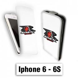 Etui cuir à rabat vertical Iphone 6 6S logo GSX